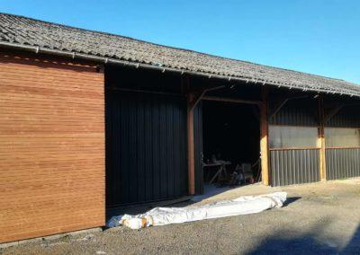 Bardage d'atelier bois et tôle